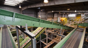 HDPE recycling installation