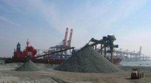 sandstone stockpile