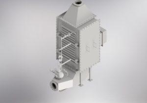 ECconomizer biomass boiler 3D model